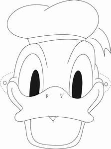 Donald Duck Face Coloring Pages AZ Coloring Pages Duck ...