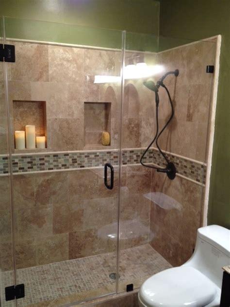 Travertine Shower 2   Traditional   Bathroom   los angeles