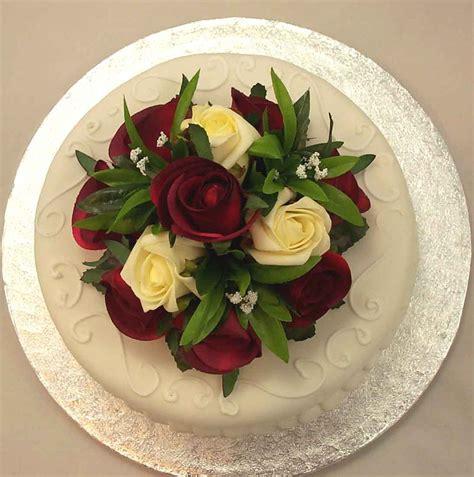 cake decorations ivory burgundy rose luxury cake