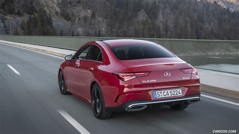 2020 mercedes cla coupé amg full review cla 180d mbux amg exterior interior infotainment. 2020 Mercedes-Benz CLA 250 4MATIC Coupe AMG Line (Color: Jupiter Red) - Rear Three-Quarter | HD ...
