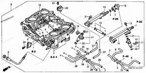 Honda Motorcycle 2003 Oem Parts Diagram For Throttle Body
