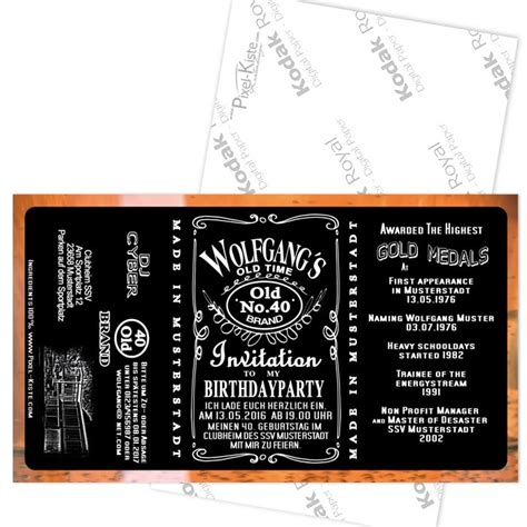 einladung whisky whiskey label etikett