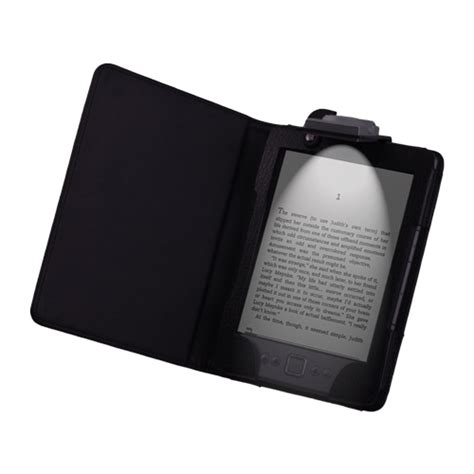 Kindle With Light pu leather led light lighted cover for kindle 5