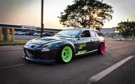 Mazda Rx-8 Drift, Sports Car Wallpaper