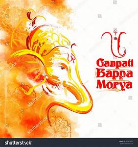 Illustration Of Lord Ganesha In Paint Style With Text ...