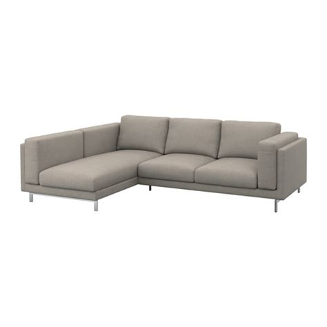 Nockeby Sofa With Chaise by Nockeby Legs F 2 Seat Sofa W Chaise Longue Chrome Plated