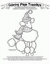 Poodle Coloring Pages Pink Puppy Paris French Colouring Printable Getcolorings Comments Getdrawings Template Coloringhome sketch template