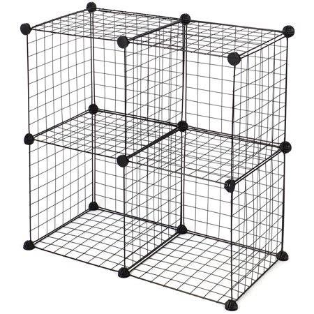 Cube Wire Grid Organizer Wardrobe Shelf Bookcase Diy