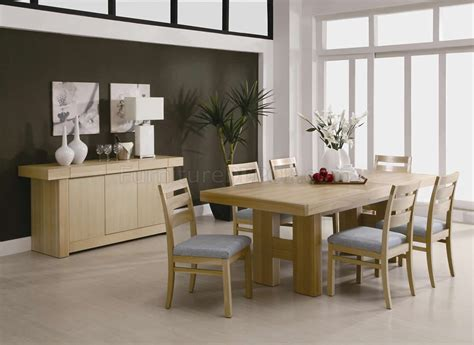 Natural Light Ash Finish Modern Dining Room Set W Options