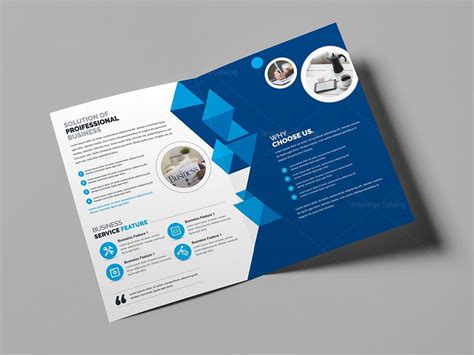 Business Brochure Template by Corporate Business Bifold Brochure Template 000437