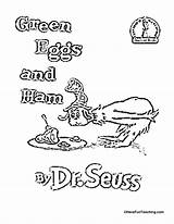 Ham Eggs Coloring Seuss Dr Printable Worksheets Sam America Sheets Hat Cat Birthday Colouring Across Worksheet Theater Teaching Readers Theme sketch template
