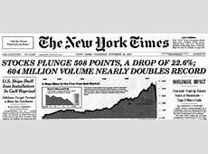 Vantage Point Trading 1987 Stock Market Crash, History