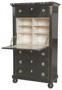 empire style secretary desk with four drawers in black