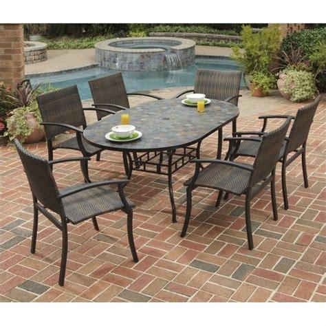 7 metal patio dining set in black 5601 33812
