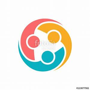 """People Teamwork Collaboration Logo"" Stock image and ..."