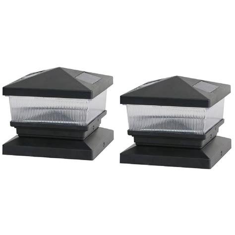 6 solar post cap lights deck impressions solar black post cap with 6 in x 6 in