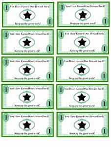 free printable reward bucks for kids money theme i39m With classroom bucks template