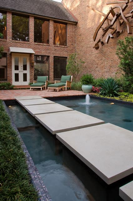 modern koi pond contemporary landscape houston by