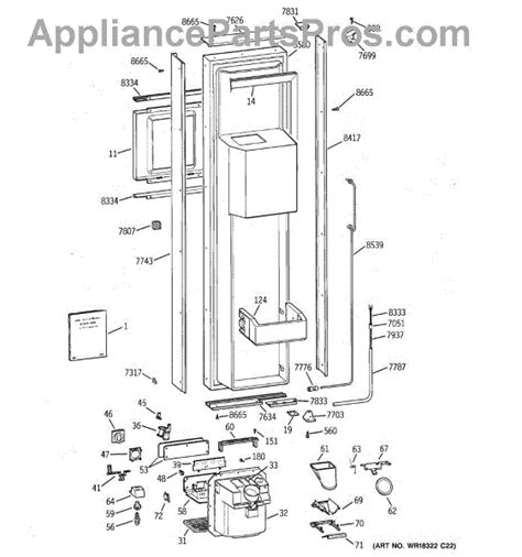 parts  ge ziswdca freezer door parts appliancepartsproscom