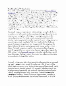 case study essay writing samples With academic case study template