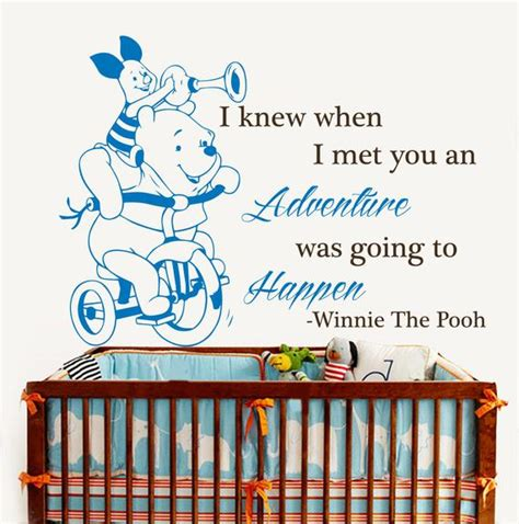winnie  pooh quote wall decals  knew   met  decalhouse