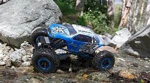 Ecx 1  18 Temper 4wd Rock Crawler Brushed Rtr  Blue  White