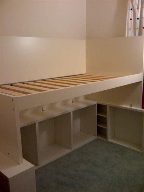 Low Loft Bed With Desk Ikea by Ikea Hackers Besta Odda Loft Bed Room