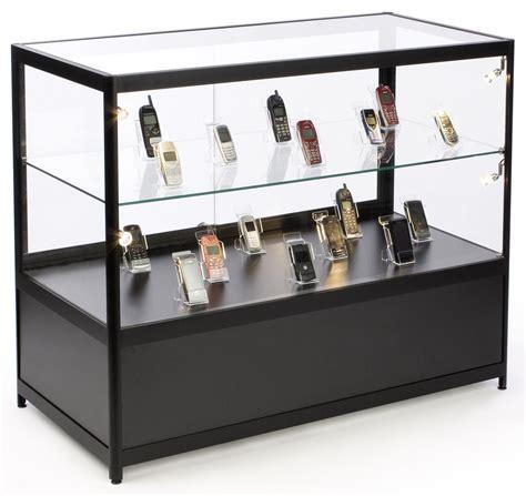 Counter Storage Cabinet by Illuminated Glass Merchandise Counter Locking Storage