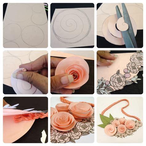 diy membuat kalung mawar kertas cewekbangetid