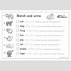 Matching, Letter Tracing, Writing  Animals Worksheet  Free Esl Printable Worksheets Made By