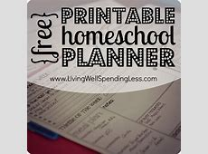 Free Printable Homeschool Planner Living Well Spending Less®