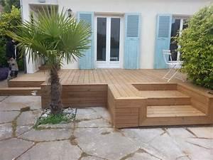 creabois91 terrasse With nice modele de terrasse en bois exterieur 1 amenagement terrasse bois exterieur images