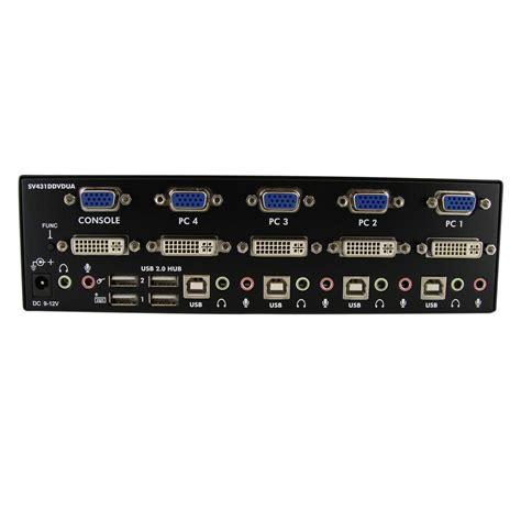 3 Kvm Switch by Startech 4 Dvi Vga Dual Monitor Kvm Switch Usb