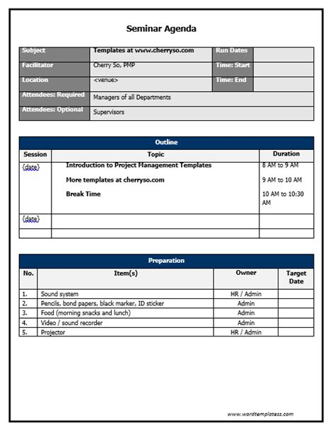 training seminar agenda template seminar proposal template seminar proposal template 5