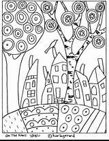 Coloring Landscape sketch template