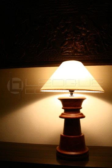 cheska table lamp solid wood turned  lampstand