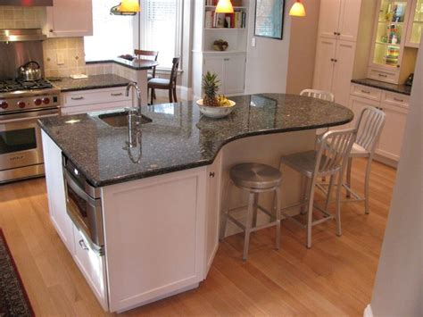 curved kitchen island on a selection of the