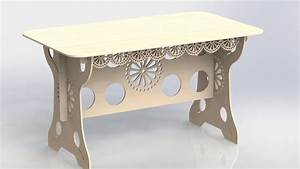 Provencal Table Project For Laser Cutting and CNC Router