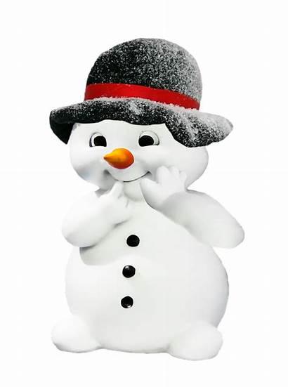Snowman Winter Funny Hat Neige Transparent Schneemann