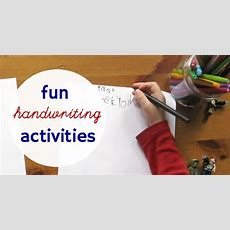 18 Fun Handwriting Activities For Kids (even The Reluctant Ones
