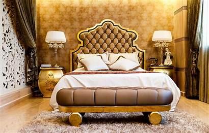 Gold Bedroom Luxury Elegant Lamps Bed Bedrooms