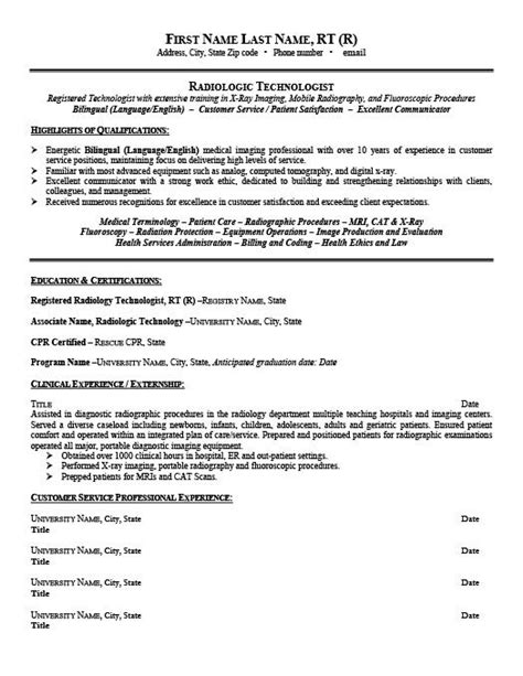 Resume Template Tech by Radiologic Technologist Resume Template Premium Resume