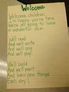 First Day Welcome Poem