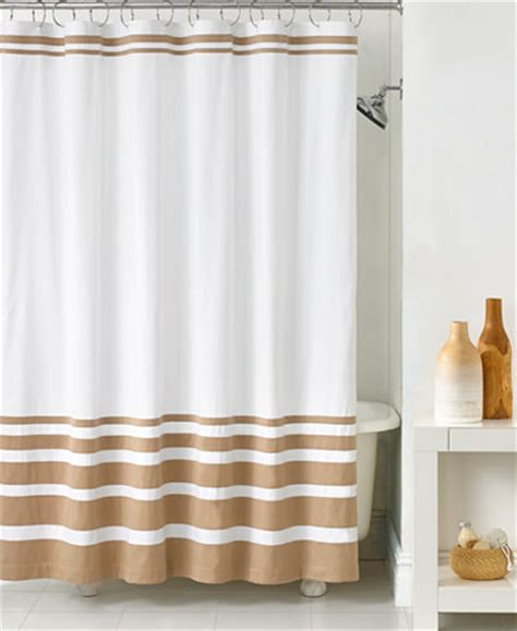 hotel collection gradient stripe shower curtain shower