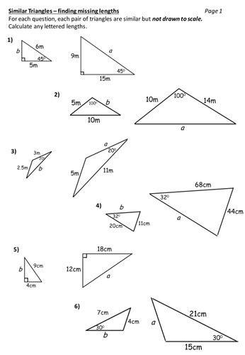 Similar Triangles Worksheet Homeschooldressagecom