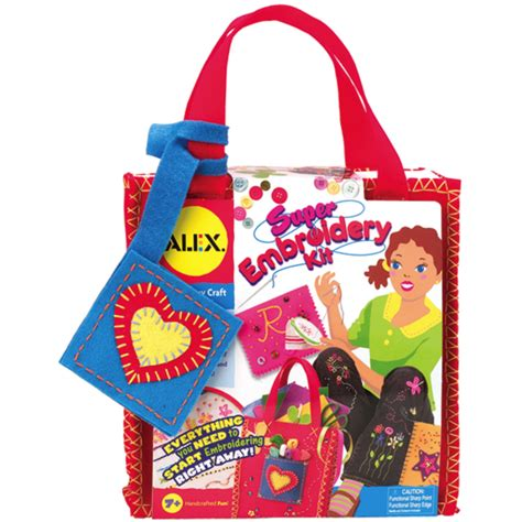 super embroidery kit  kids alex embroidery craft