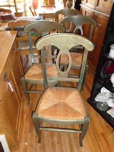Pottery Barn Napoleon Chair Green by C1840 Antique Hitchcock Seat Stencil Side Chairs On