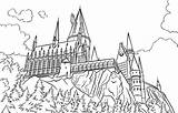 Castle Potter Harry Coloring Hogwarts Chateau Coloriage Drawing Coloringareas sketch template