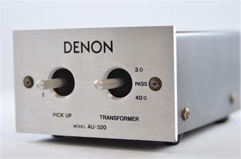 exc denon au 320 mc step up transformer denon analog