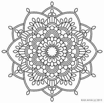 Mandala Coloring Pages Printable Sheets Advanced